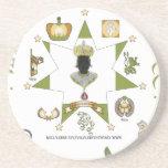 Amarre/rey de la estrella de Merovingian de Europa Posavasos Diseño
