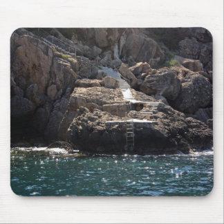 Amarre y pasos al cojín de ratón de mar tapetes de raton