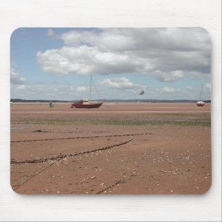 Amarres de marea Barcos varados Devon Reino Unid Alfombrillas De Raton