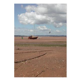Amarres de marea. Barcos varados. Devon Reino Unid Tarjeta De Visita
