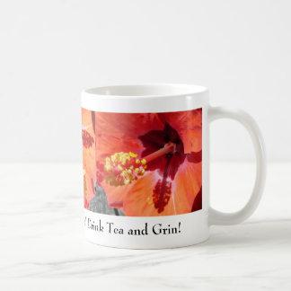 Amarylis - Drink Tea and Grin Classic White Coffee Mug