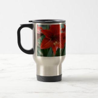 Amarylis rojo taza térmica