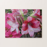 Amaryllis and Poinsettia Red Holiday Flowers Jigsaw Puzzle