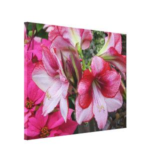 Amaryllis and Poinsettias Holiday Canvas Print