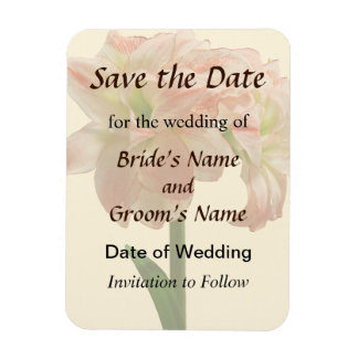 Amaryllis Aphrodite Save the Date Magnet
