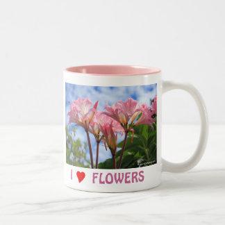 Amaryllis belladonna Two-Tone coffee mug