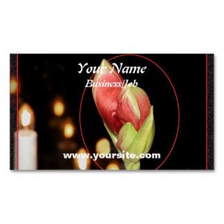 Amaryllis Business Card Magnet