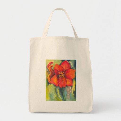 Amaryllis Canvas Bag