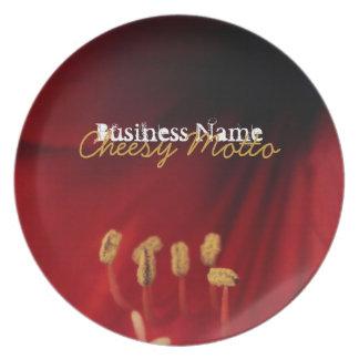 Amaryllis Close-Up; Promotional Plate
