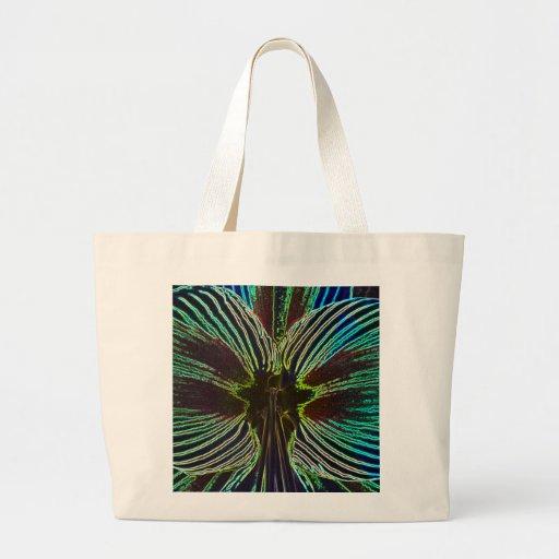 Amaryllis de neón bolsa lienzo