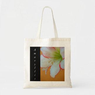amaryllis design tote bag