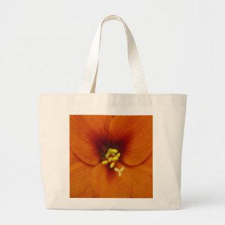 Amaryllis Flower Orange Large Tote Bag
