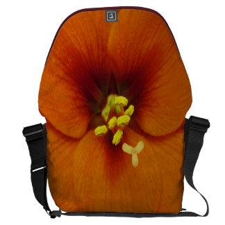 Amaryllis Flower Orange Messenger Bag