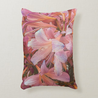 Amaryllis Flowers Accent Pillow