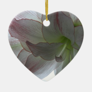 Amaryllis Heart Ornament