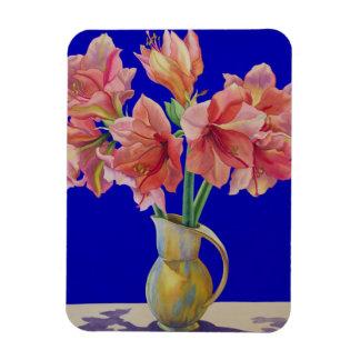 Amaryllis in a jug 2007 rectangular photo magnet