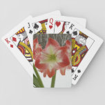 Amaryllis in Snow I Red Holiday Winter Floral Playing Cards