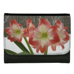 Amaryllis in Snow I Red Holiday Winter Floral Women's Wallets