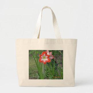 amaryllis large tote bag