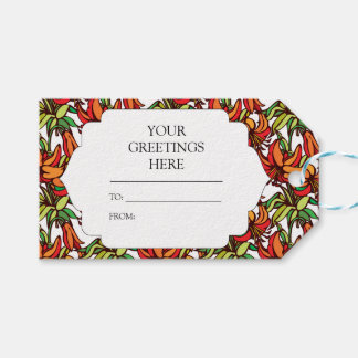 Amaryllis Lily Orange Floral Blooms Gift Tags