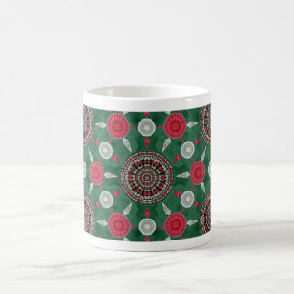 Amaryllis Mandala Array Christmas Mug