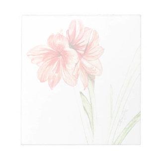Amaryllis Note Pad