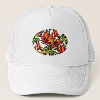 Amaryllis Orange Floral Blooms Trucker Hat