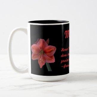 Amaryllis Proverbs 31:31 zazzle_mug