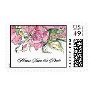 Amaryllis Save the Date Stamp