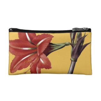 Amaryllis Striped Makeup Bag
