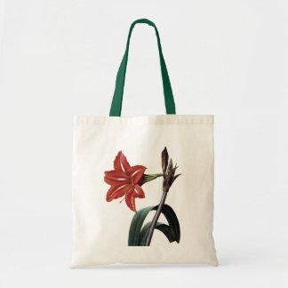 Amaryllis Striped Tote Bag