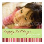 Amaryllis Stripes :: Christmas Photo Card / Invite