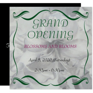 AMARYLLIS WATERCOLOR FLOWER GRAND OPENING INVITE