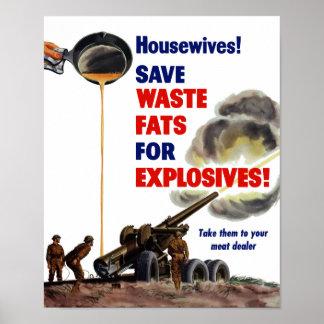 ¡Amas de casa! ¡Ahorre las grasas inútiles para lo Impresiones