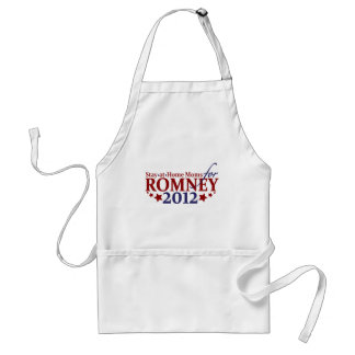 Amas de casa para Romney 2012 Delantal