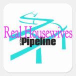 Amas de casa reales de los pegatinas de la tubería calcomania cuadradas personalizada