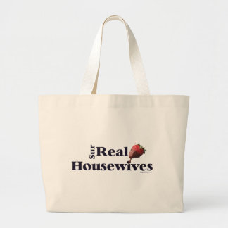 Amas de casa surrealistas bolsa tela grande