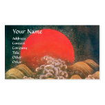 AMATERASU, DIOSA del SOL, marrón negro rojo Plantilla De Tarjeta De Negocio