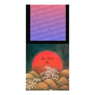 AMATERASU, DIOSA del SOL, marrón negro rojo Tarjetas Con Fotos Personalizadas