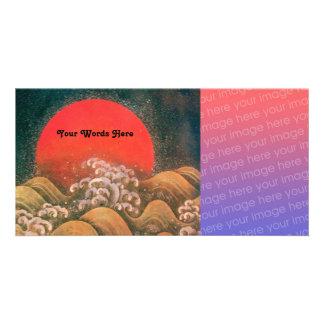 AMATERASU, DIOSA del SOL, marrón negro rojo Tarjetas Fotograficas Personalizadas