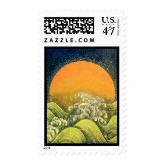 AMATERASU, DIOSA del SOL, negro del verde amarillo Sellos Postales