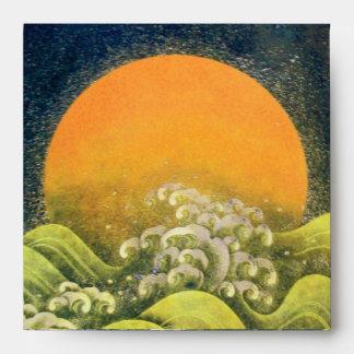 AMATERASU, DIOSA del SOL, negro del verde amarillo Sobres