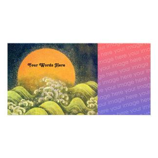 AMATERASU, DIOSA del SOL, negro del verde amarillo Tarjetas Personales Con Fotos