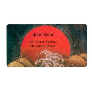 AMATERASU, DIOSA del SOL rojo marrón Etiqueta De Envío