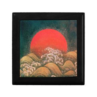 AMATERASU, negro rojo marrón de la DIOSA del SOL Caja De Recuerdo