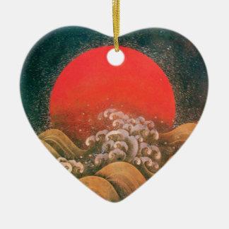 AMATERASU , SUN GODDESS Heart Christmas Ornament