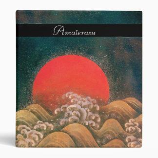AMATERASU SUN GODDESS red black brown Vinyl Binders