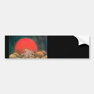 AMATERASU , SUN GODDESS ,red black brown Car Bumper Sticker