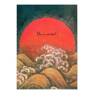 AMATERASU , SUN GODDESS ,red black brown Card