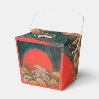 AMATERASU SUN GODDESS Red Black Brown Wedding Favor Boxes